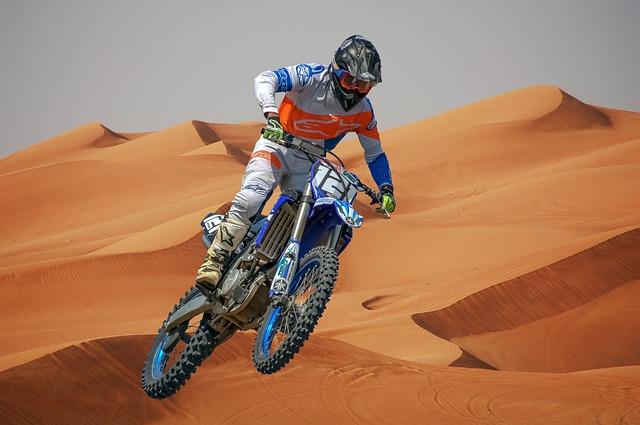 Motokros, púšť